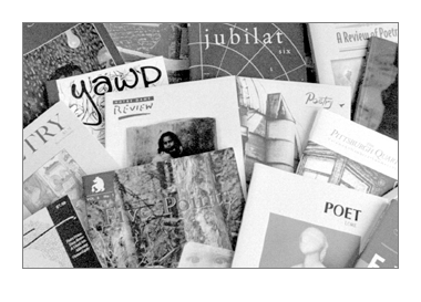 Photo of poetry journals.